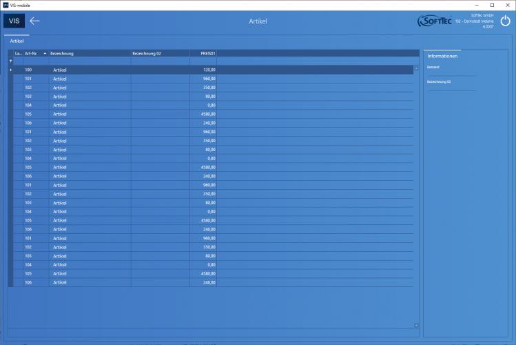 Artikel Screenshot VIS-mobile Außendienst-Steuerung