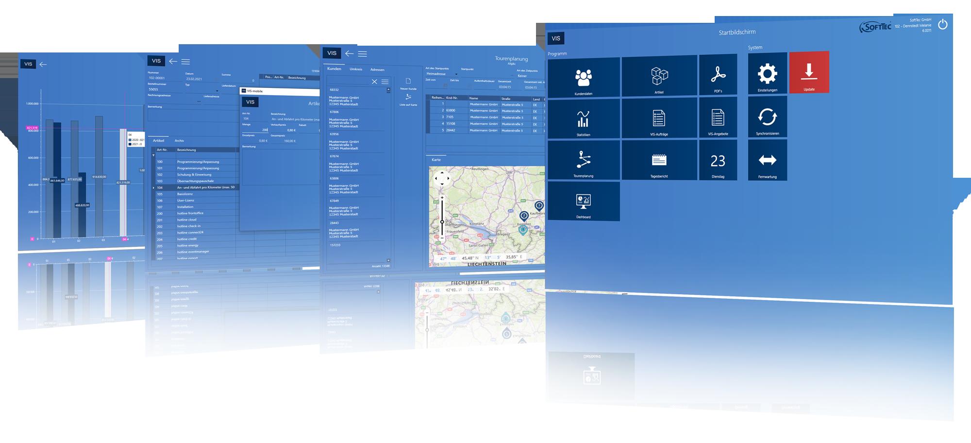 VIS-mobile Außendienst-Steuerung by SoftTec GmbH
